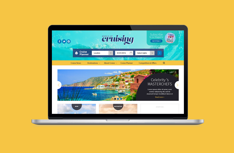 Redesign for World of Cruise website