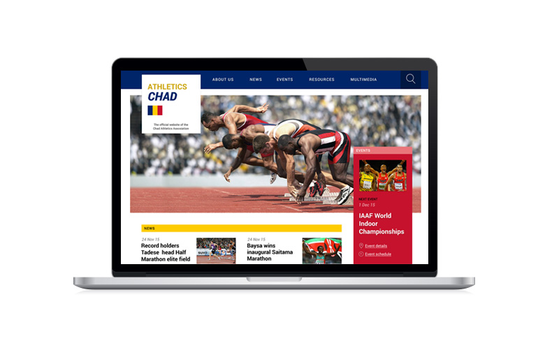 Micro site templates for IAAF