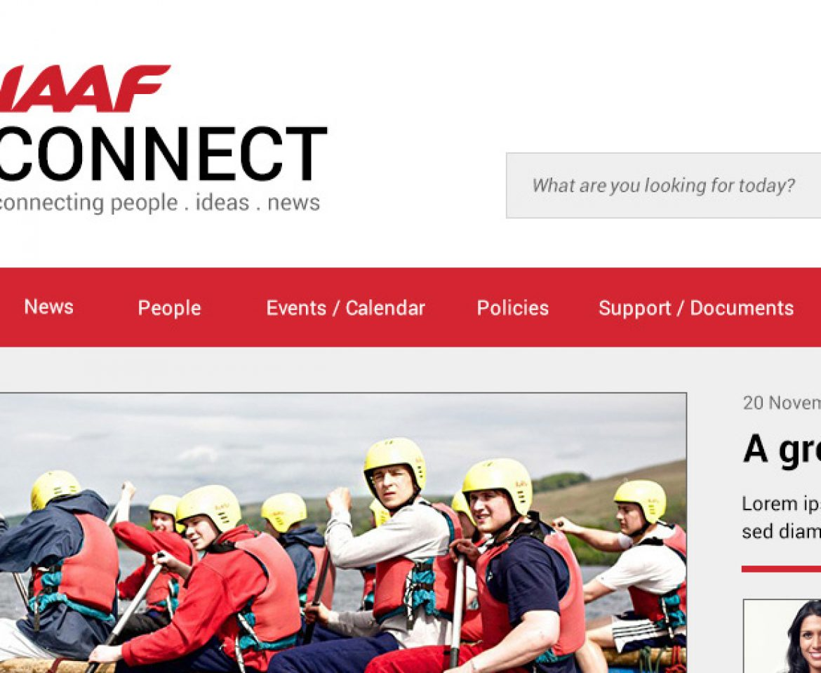 Intranet Design for IAAF