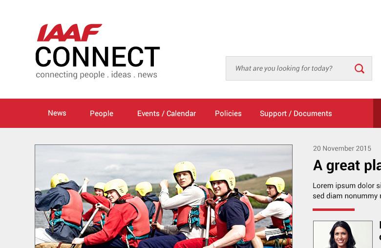Intranet Design for IAAF