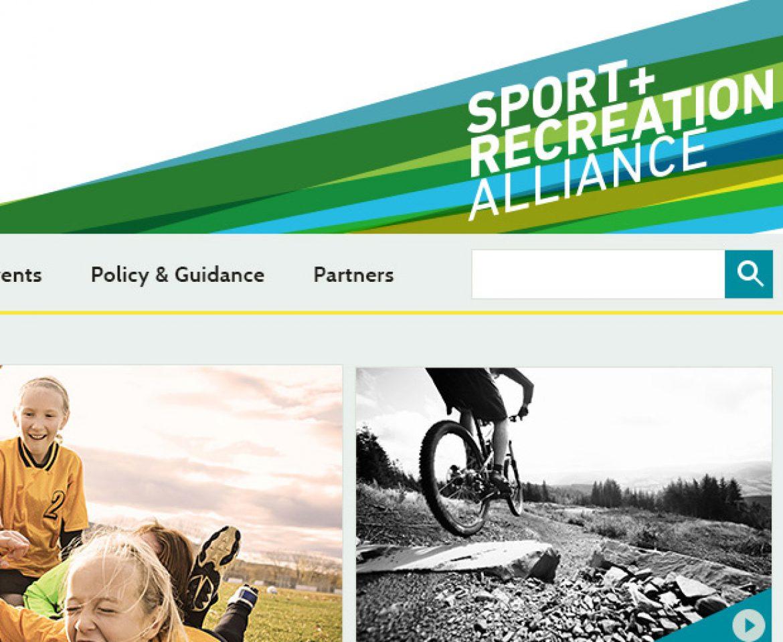 Designs for Sport & Recreation Alliance website