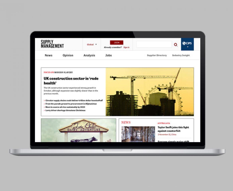 Design for large editorial website