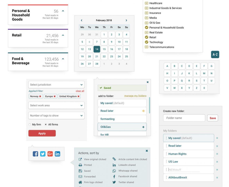 Redesign of legal information platform
